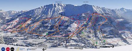 Mapa střediska - areálu - Oberjoch Bad Hindelang