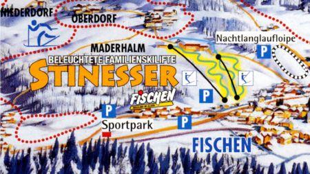 Mapa střediska - areálu - Hornergruppe/Fischen