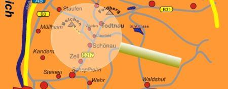 Mapa střediska - areálu - Belchen