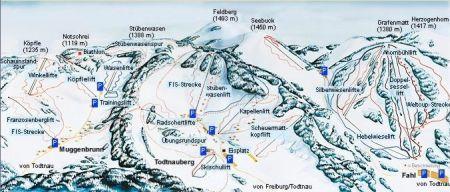 Mapa střediska - areálu - Berchtesgaden Gotschen