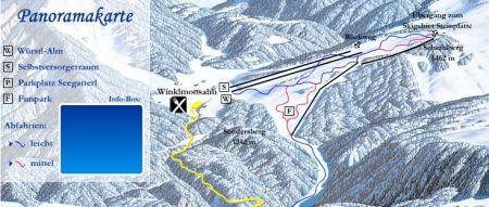 Mapa střediska - areálu - Winklmoos Steinplatte