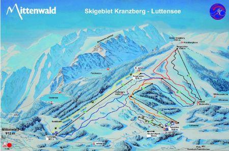 Mapa střediska - areálu - Mittenwald/Kranzberg