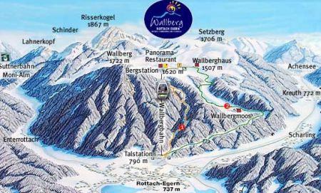 Mapa střediska - areálu - Wallberg Tegernseer Tal