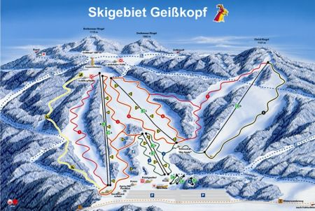 Mapa střediska - areálu - Geisskopf