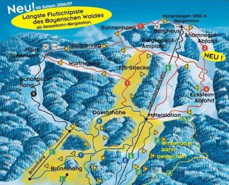 Mapa střediska - areálu - Hohenbogen