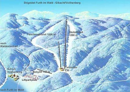 Mapa střediska - areálu - Voithenberg Gibacht