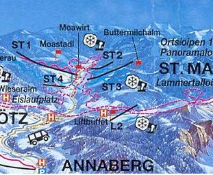 Mapa střediska - areálu - St. Martin