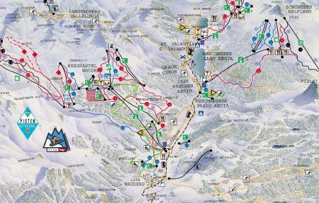 Mapa střediska - areálu - Haideralm - St.Valentin, Reschenpass