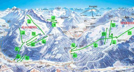 Mapa střediska - areálu - Klausberg