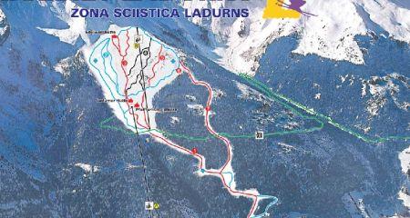 Mapa střediska - areálu - Ladurns