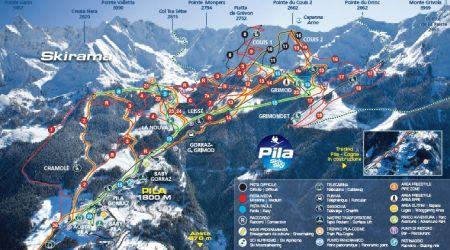 Mapa střediska - areálu - Pila/Aostatal