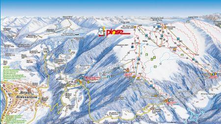 Mapa střediska - areálu - Plose Brixen