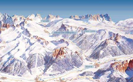 Mapa střediska - areálu - Tre Valli