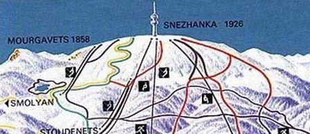 Mapa střediska - areálu - Pamporovo