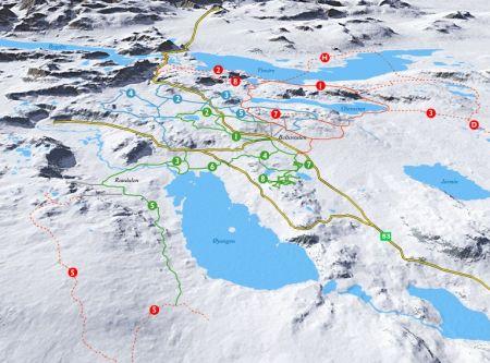 Mapa střediska - areálu - Beitostolen