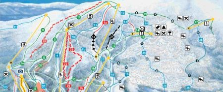 Mapa střediska - areálu - Lillehammer/Hafjell