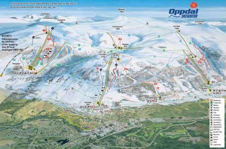 Mapa střediska - areálu - Oppdal