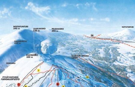 Mapa střediska - areálu - Pyha