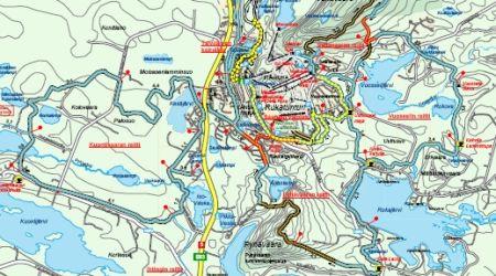 Mapa střediska - areálu - Ruka Ski