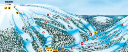 Mapa střediska - areálu - Saariselka
