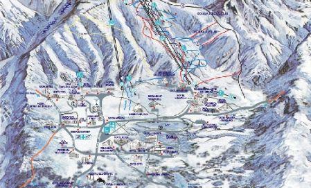 Mapa střediska - areálu - Poiana Brasov