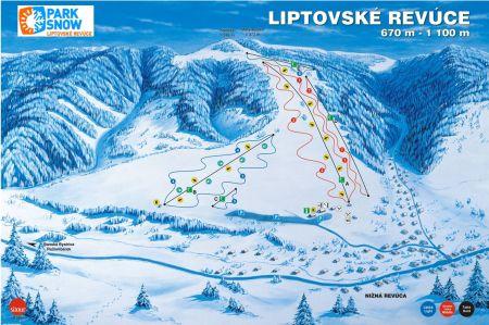 Mapa střediska - areálu - Ski Fun - Liptovské Revúce