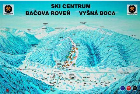 Mapa střediska - areálu - Vyšná Boca - Bačova Roveň