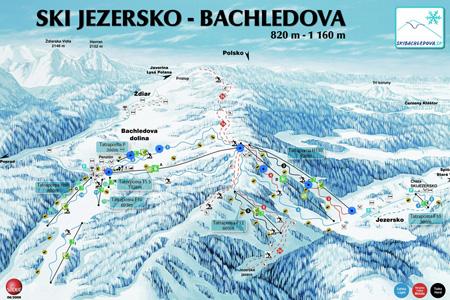 Mapa střediska - areálu - Ski Jezersko - Bachledova