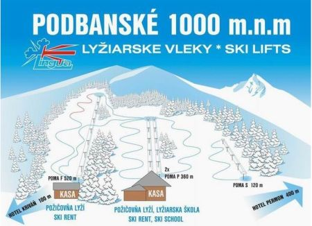 Mapa střediska - areálu - Podbánské