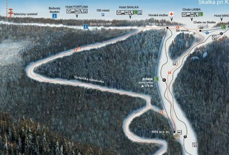 Mapa střediska - areálu - Strachan Ski Centrum - Ždiar