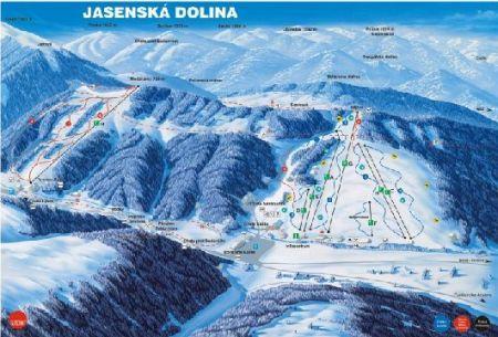 Mapa střediska - areálu - Jasenská dolina
