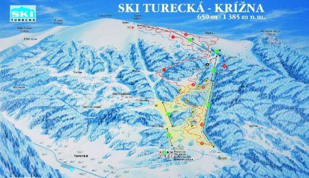 Mapa střediska - areálu - Turecká - Krížna