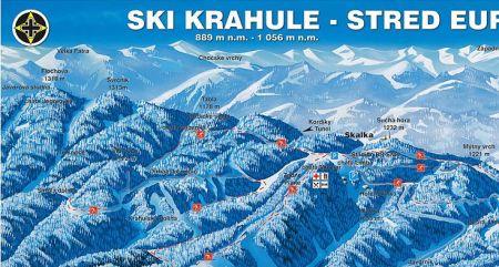 Mapa střediska - areálu - Krahule