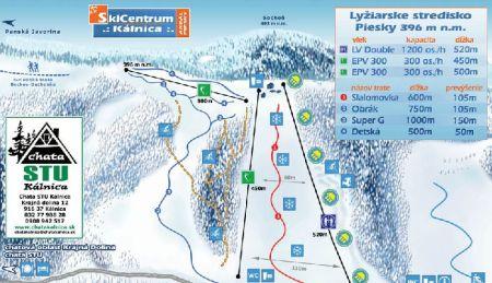 Mapa střediska - areálu - Skipark Kálnica