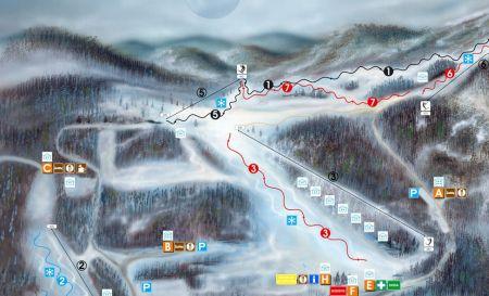 Mapa střediska - areálu - Bezovec