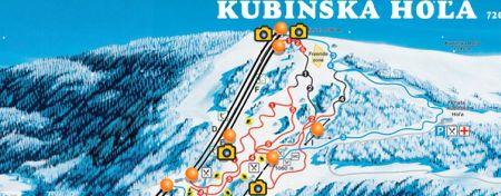 Mapa střediska - areálu - Skipark Kubínska hola