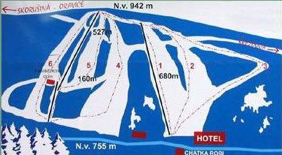 Mapa střediska - areálu - Brezovica
