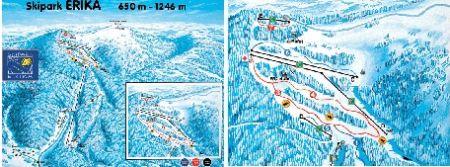 Mapa střediska - areálu - Skipark Erika - Kojšovská hola