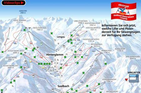 Mapa střediska - areálu - Saalbach - Hinterglemm