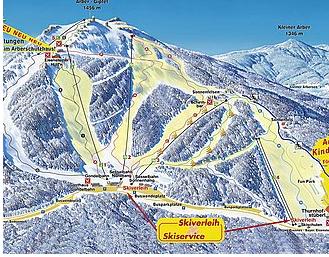 Mapa střediska - areálu - Grosser Arber