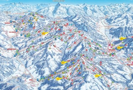Mapa střediska - areálu - Brixental-Wilder Kaiser