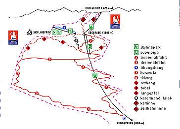 Mapa střediska - areálu - Innsbruck - Nordpark