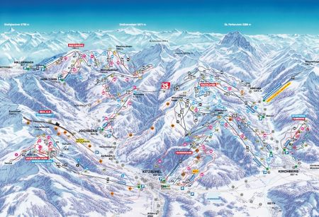 Mapa střediska - areálu - Kitzbuhel
