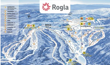 Mapa střediska - areálu - Rogla