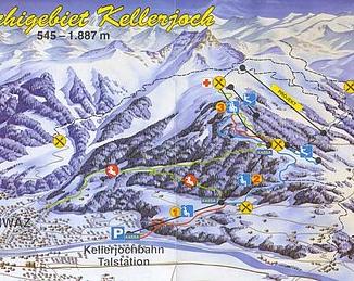 Mapa střediska - areálu - Schwaz-Pill - Kellerjochbahn
