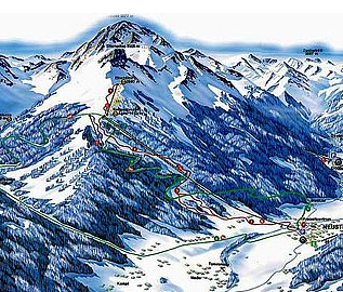 Mapa střediska - areálu - Stubaital 11er-Lifte Neustift