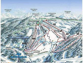 Mapa střediska - areálu - Alpl