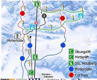 Mapa střediska - areálu - Gaaler Lifte
