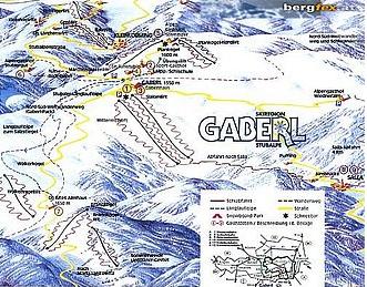 Mapa střediska - areálu - Gaberl - Stubalpe