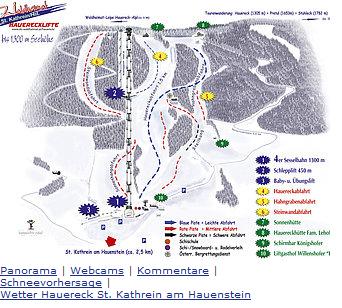 Mapa střediska - areálu - Hauereck St. Kathrein am Hauenstein